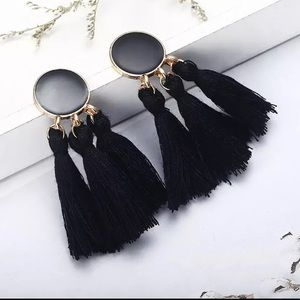 Jewelry - Black Tassel Earrings